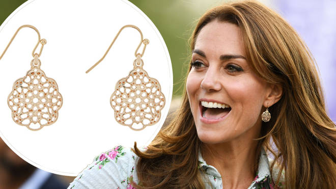Kate Middleton accessorised her look with a pair of affordable earrings