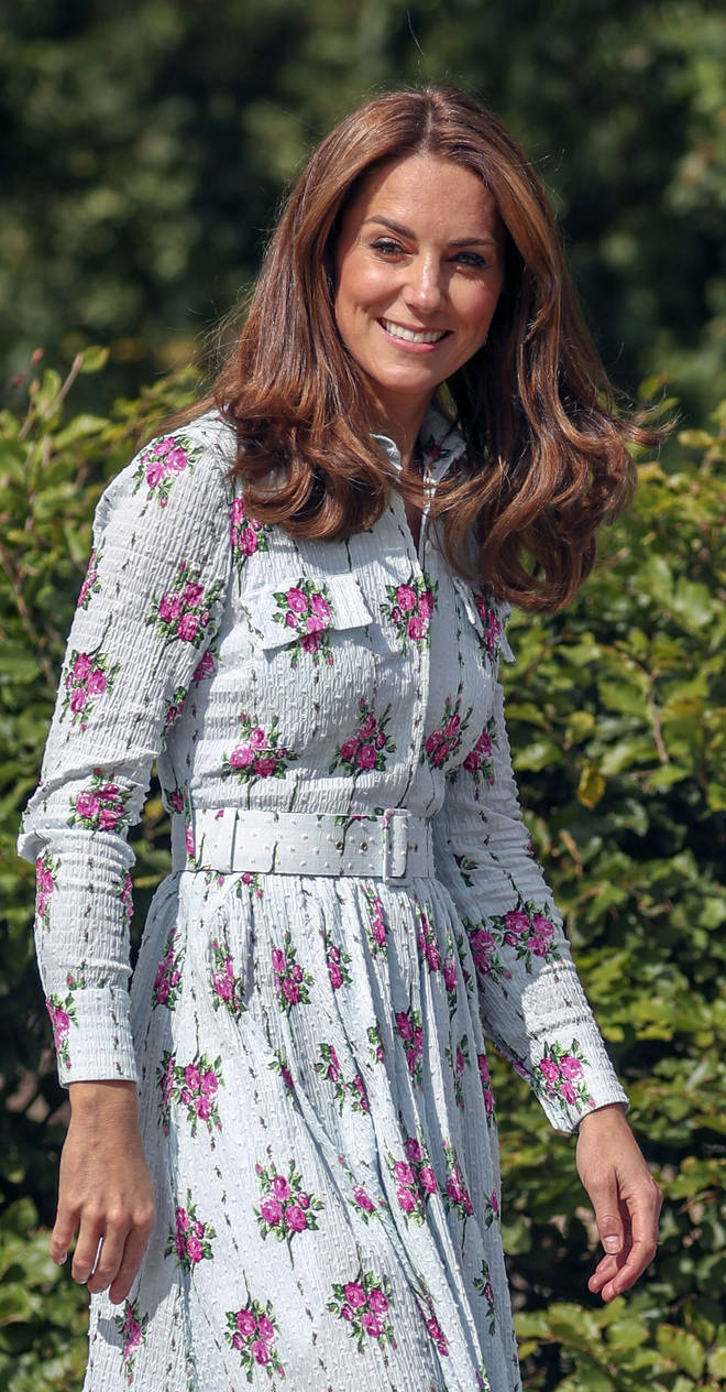 The Duchess of Cambridge looked stunning in an Emilia Wickstead dress