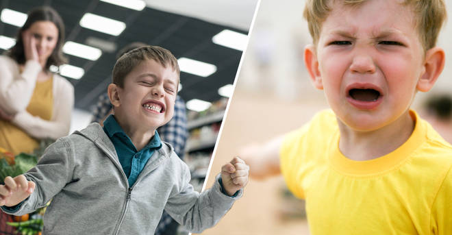 A mum was furious when a shopper told her son to 'shut up'