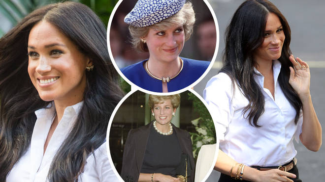 Meghan Markle honoured Princess Diana as she wore two pieces from her jewellery collection