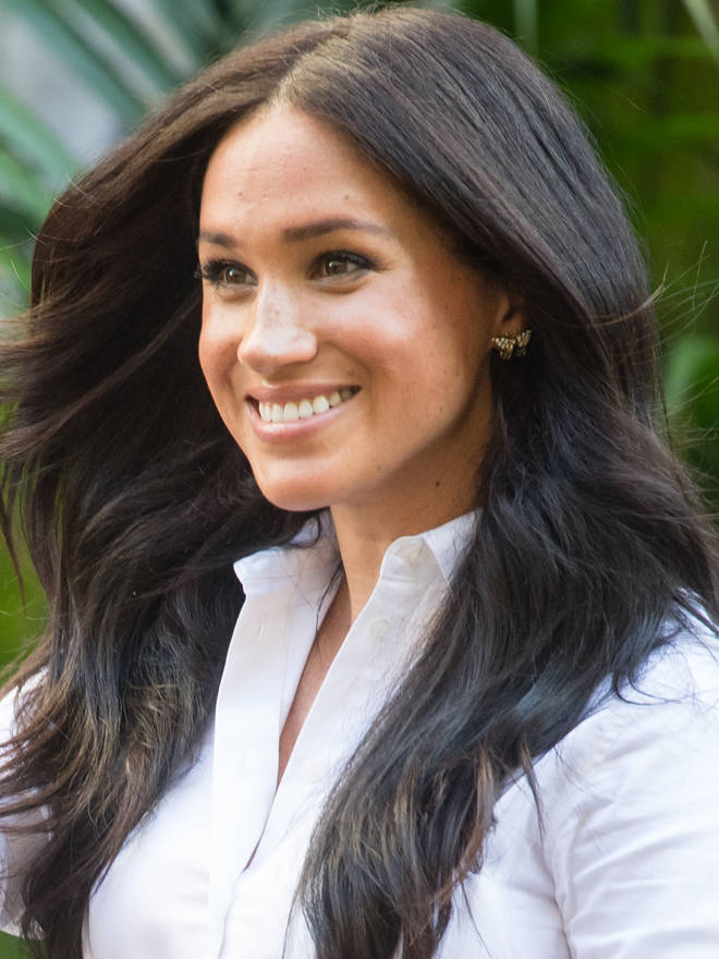 Meghan Markle re-wore the butterfly earrings she was first seen in during her royal tour of Australia with Harry