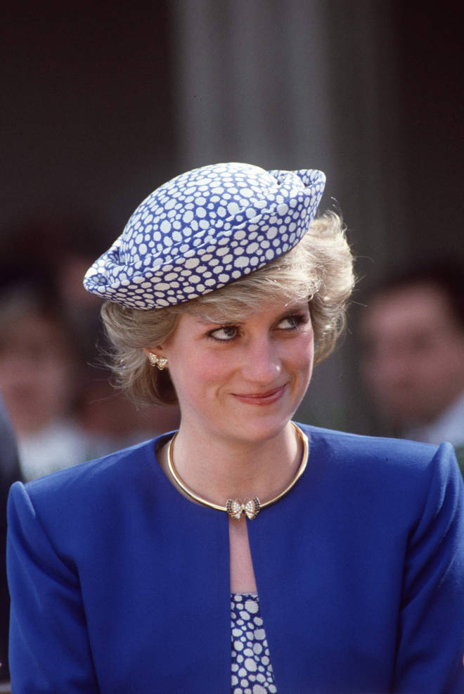Princess Diana wore the butterfly earrings during the royal tour of Canada