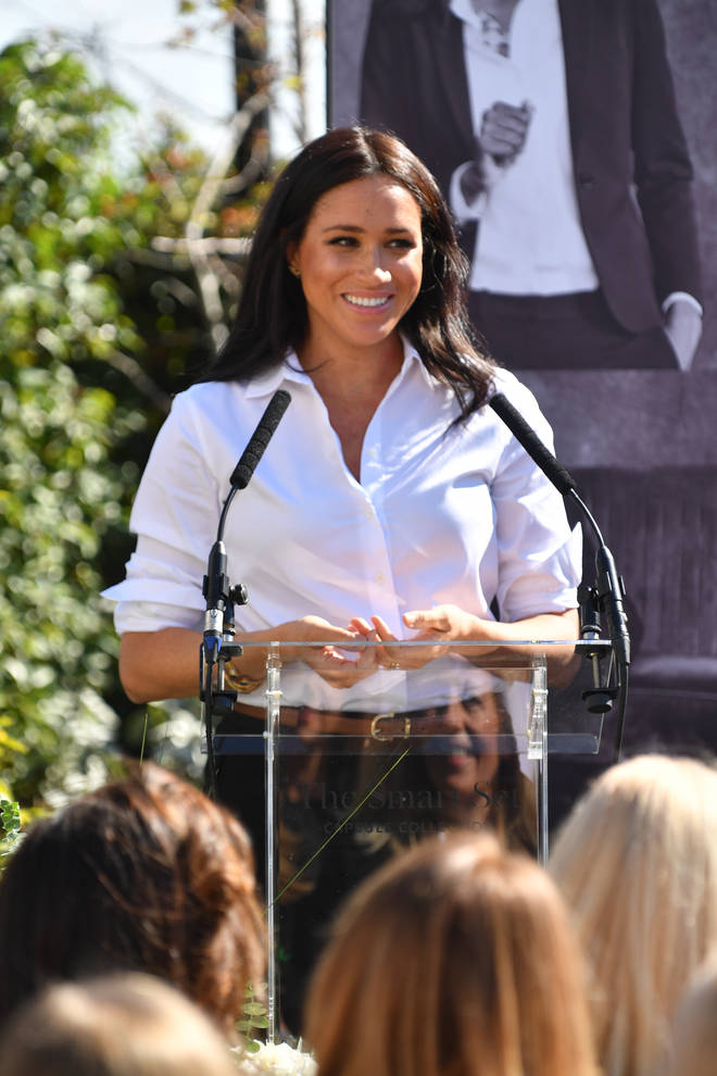 Meghan Markle met with women who work for the charity, as well as those women who have been helped by Smart Works