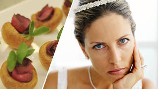 The bride was not happy that the guest ate the wrong meal on the day