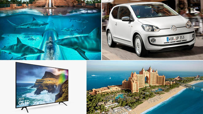 Text to win a car, a holiday and a widescreen TV!