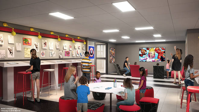 The hotel will include the Marvel Design Studio, where children can learn how to draw everyone from Captain America to the stars of Guardians of the Galaxy