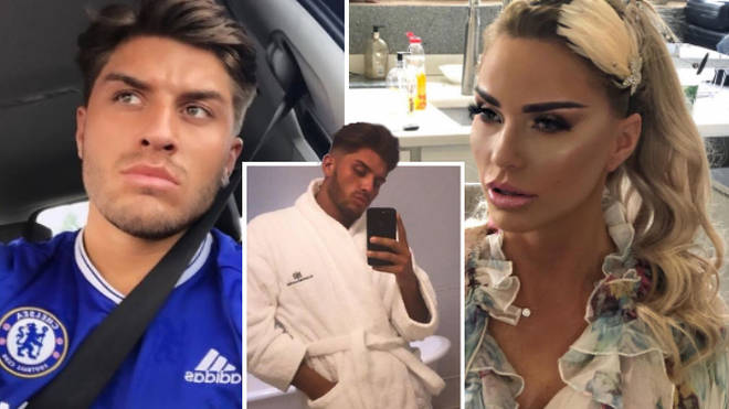 Katie Price CONFISCATES toyboy Charles Drury's phone for fears he'll leak private info to pals