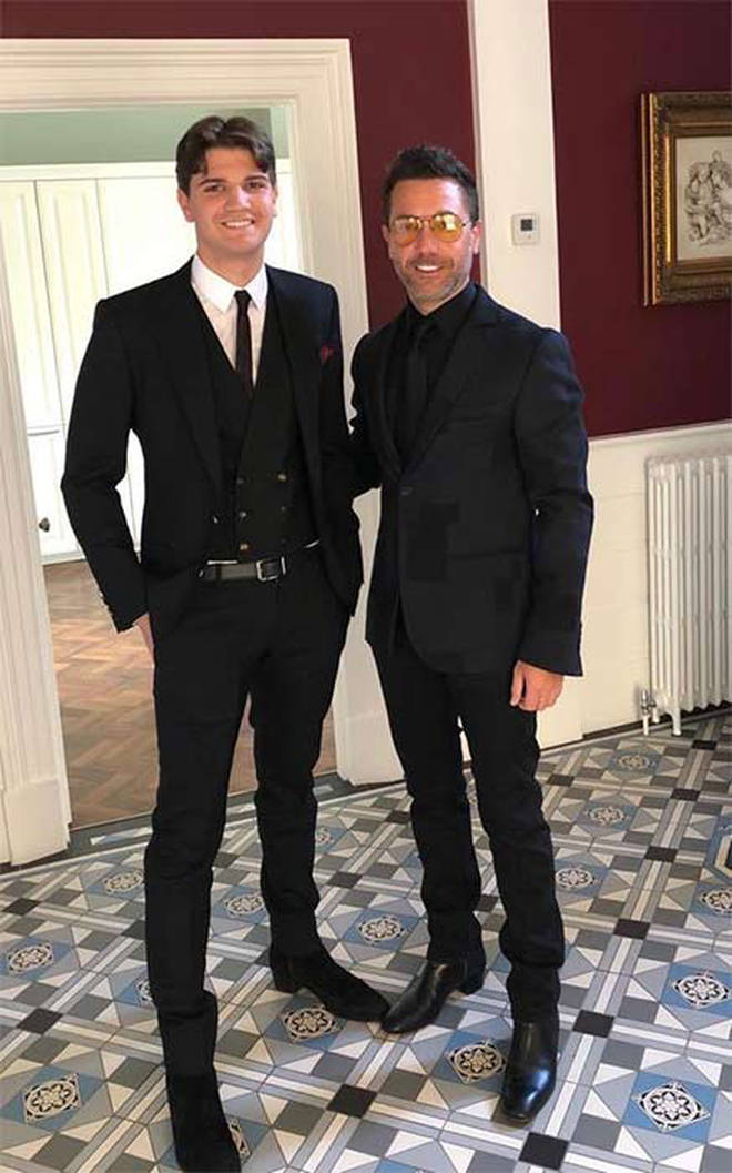 Gino with eldest son Luciano
