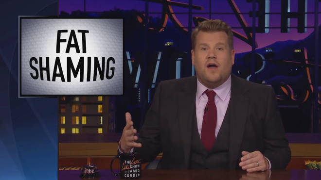 James Corden hit out at Bill Maher, arguing that fat-shaming doesn't help overweight people lose weight
