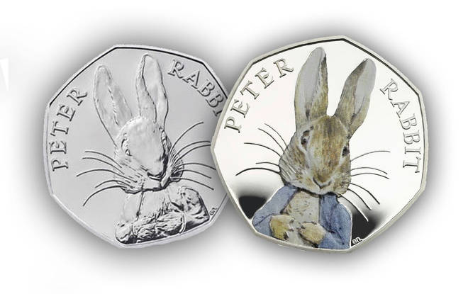 The Peter Rabbit coin is one of the rarest in the country