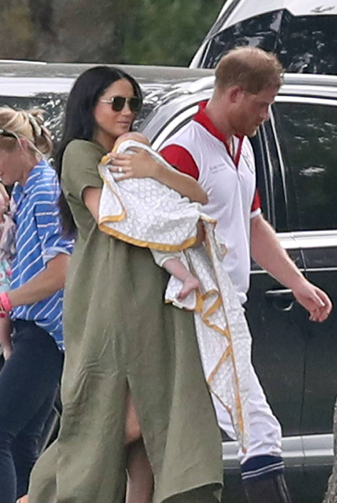We last got a glimpse of baby Archie as Meghan took him to watch Harry play polo in July