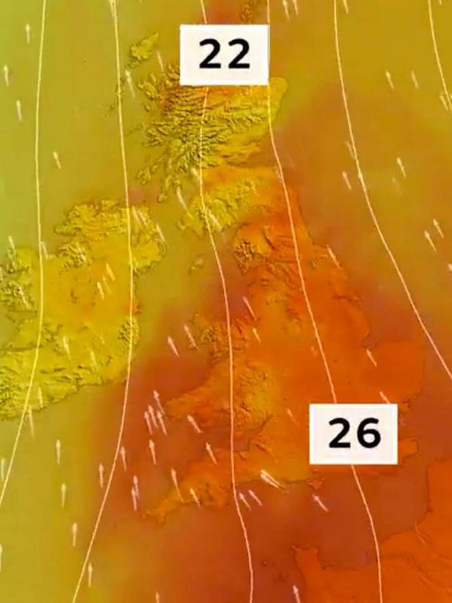 Britain is set to be hotter than Madrid this weekend with highs of 26C.
