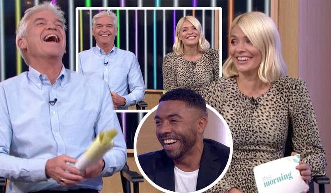 Holly Willoughby and Phillip Schofield burst into laughter during the fashion segment