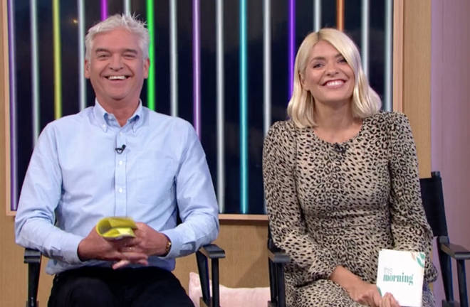 Holly and Phil were left red-faced at the 'camel toe' blunder