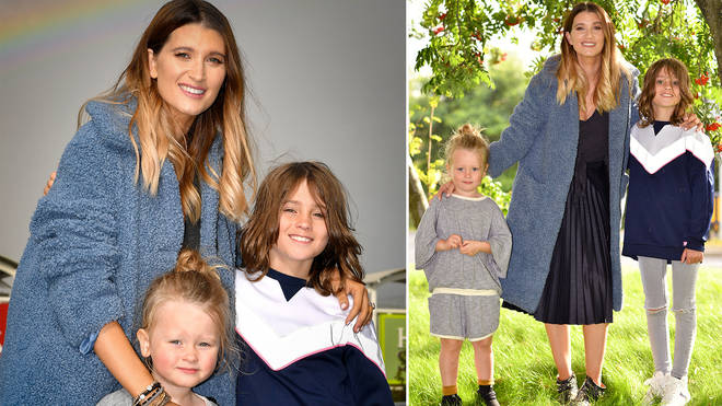 Charley Webb poses with two of her gorgeous sons