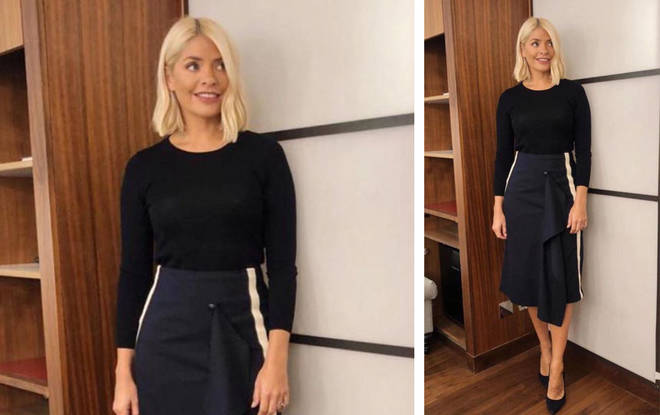 Holly looked chic in this simple outfit