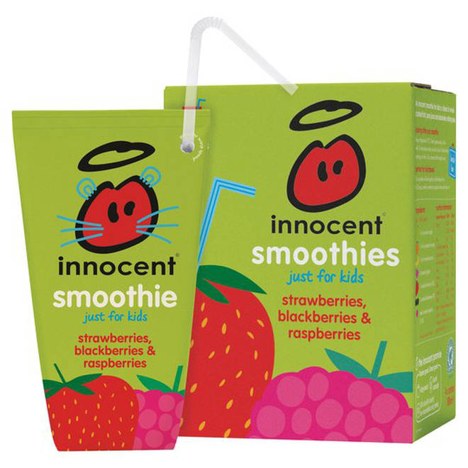 An Innocent Kids' Smoothie contains 18g of sugar.