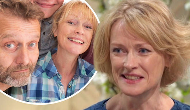 Claire Skinner opened up about her relationship with Hugh