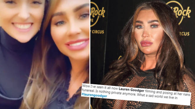Lauren was criticised by her followers for sharing selfies on the sad day.