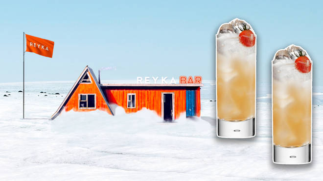 Amazingly, it's the first bar on an Icelandic glacier EVER