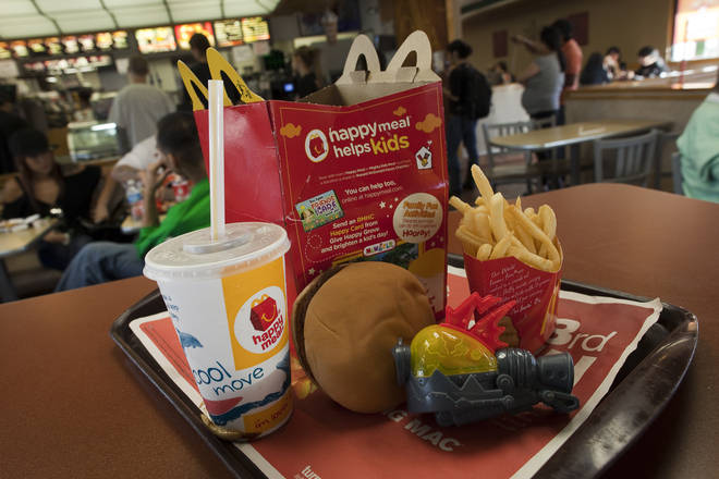McDonald's Happy Meals will offer fruit bags and books instead of plastic toys.