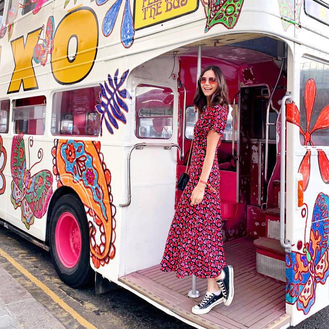 Lilah loved Rixo's flower power inspired fashion bus