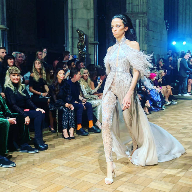 Julien Macdonald's show was at Southwark Cathedral, and it was incredible
