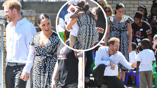 Meghan Markle and Prince Harry arrive in Cape Town
