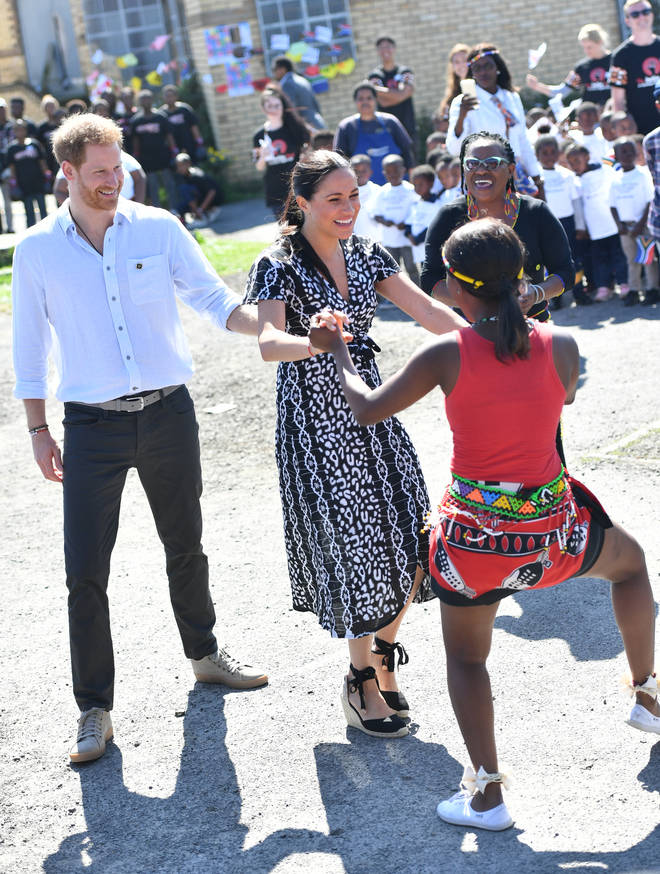 The Duke of Sussex encouraged his wife to join in