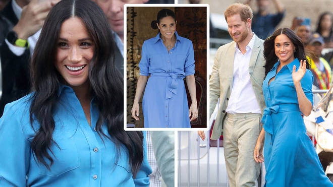 Meghan Markle re-wore her Veronica Beard dress in Cape Town