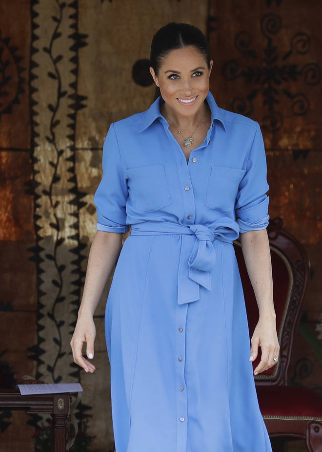 The Duchess of Sussex first wore the dress last year in Tonga