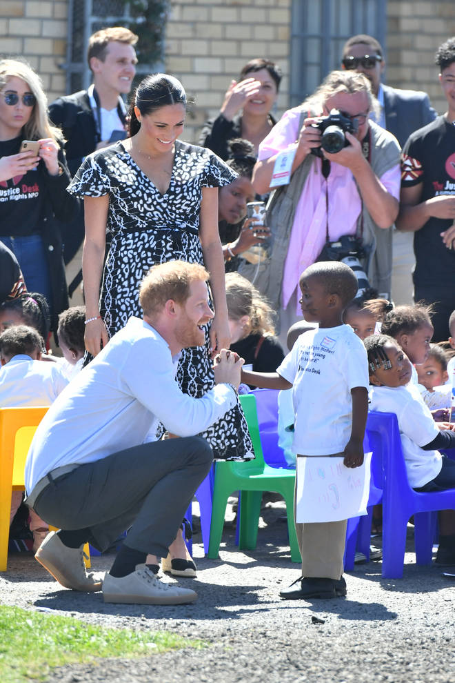 Earlier in the day, Meghan and Harry visited The Justice Desk in Nyanga