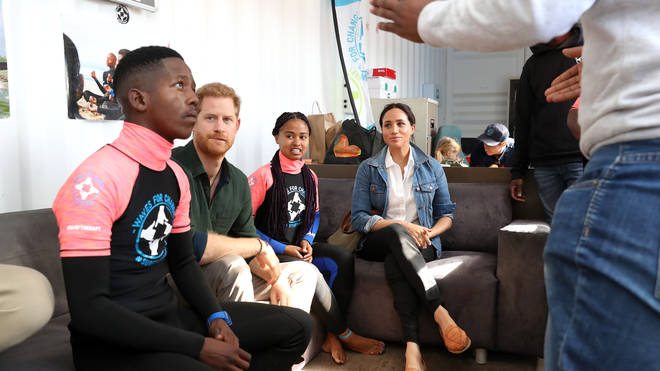 The pair met with the charity workers at Waves for Change