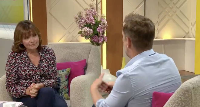Simon opened up to Lorraine
