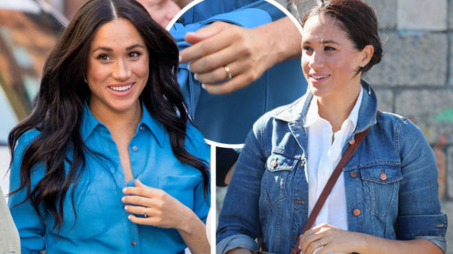 Meghan Markle has left her engagement ring at home for the Royal Tpur