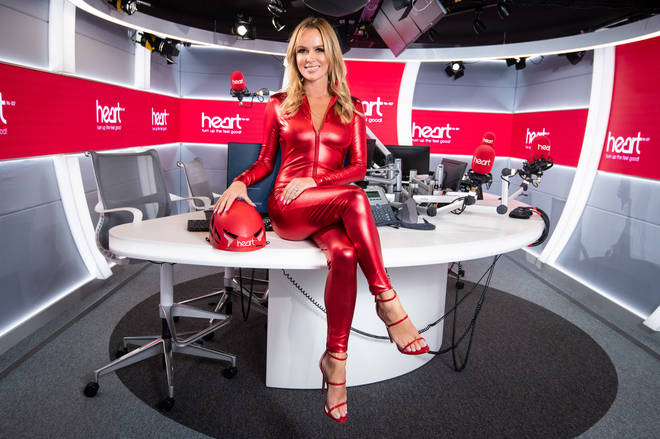 Amanda Holden is auctioning off her red catsuit for Global's Make Some Noise