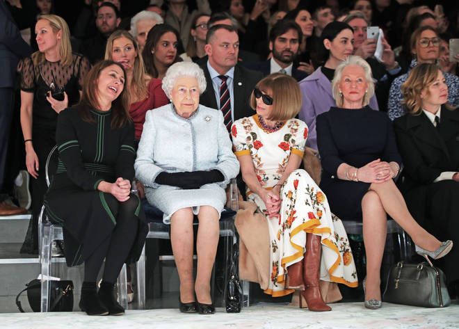 Angela Kelly joined the Queen at Fashion Week earlier this year