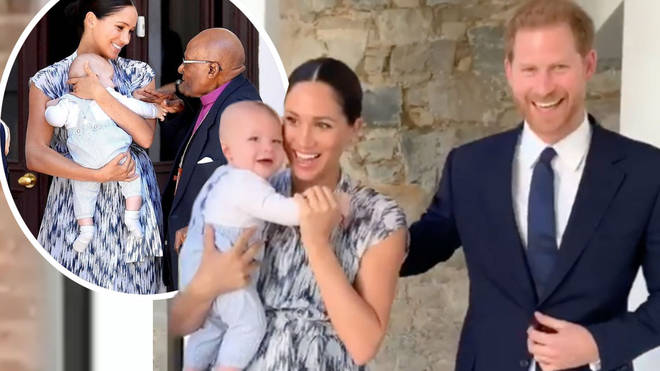 Meghan Markle and Prince Harry stepped out with their son, Archie