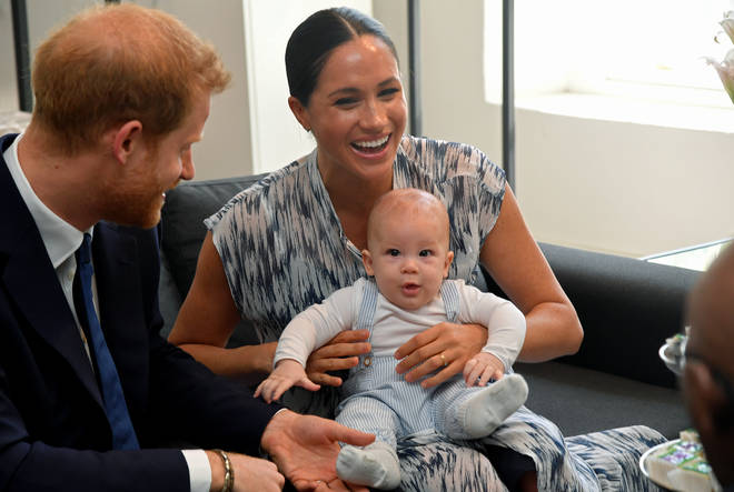 Baby Archie looked the spitting image of Prince Harry during their outing