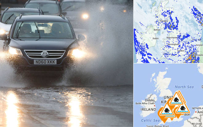 Floods are set to hit the UK