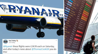 Ryanair hikes up its prices after Thomas Cook's collapse.