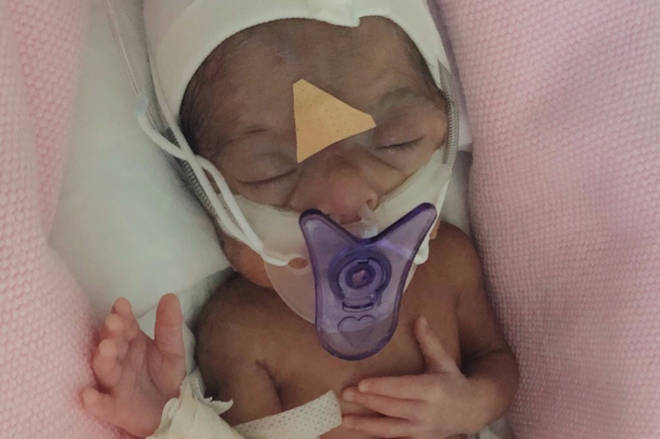 Syeda, 23, gave birth to Amal by emergency c-section after the baby's heart rate and blood pressure plummeted.