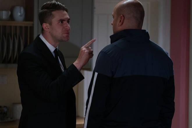 Callum (left) and Stuart (right) argue in the episode