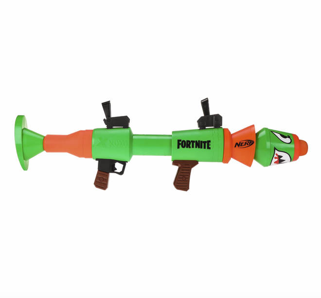 The Nerf Fortnite RL blaster is inspired by the one used in hit video game, Fortnite.