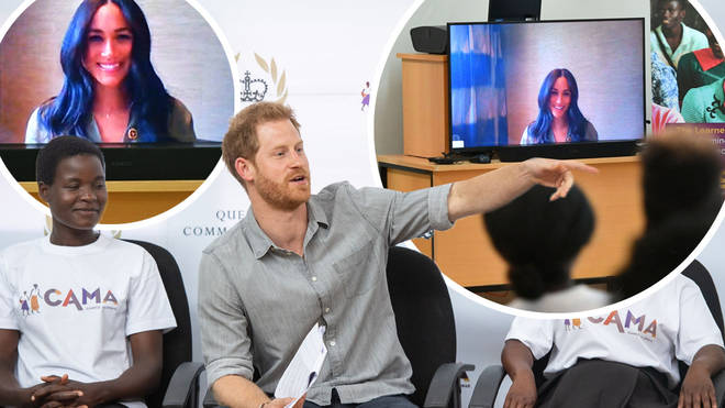 The Duchess of Sussex made a surprise appearance during Prince Harry's visit to the CAMA