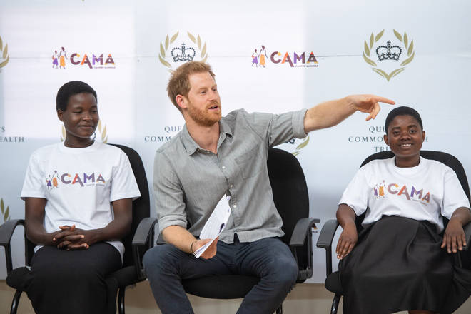 Prince Harry introduced his wife before the CAMA choir started singing for her