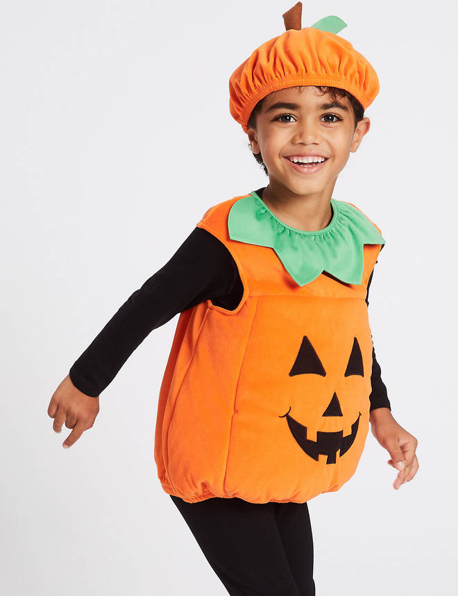 You can pick up a classic pumpkin outfit from Matalan