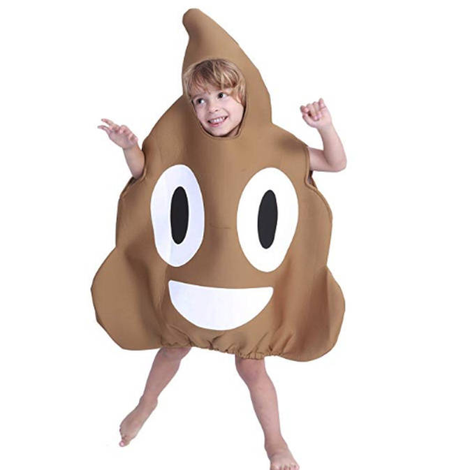 Kids will go wild for this poo emoji costume