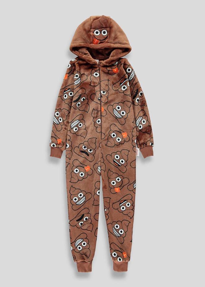 This poop onesie is sold at Matalan