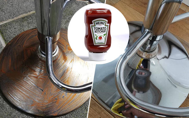 A little bit of ketchup can transform your kitchen stools